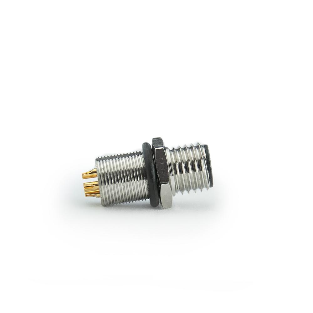 5 Polig M8 Stecker   5 polig m8 Rundstecker   M8 5 polig Einbaustecker - Rear-Mount - Lötanschluss steckverbinder